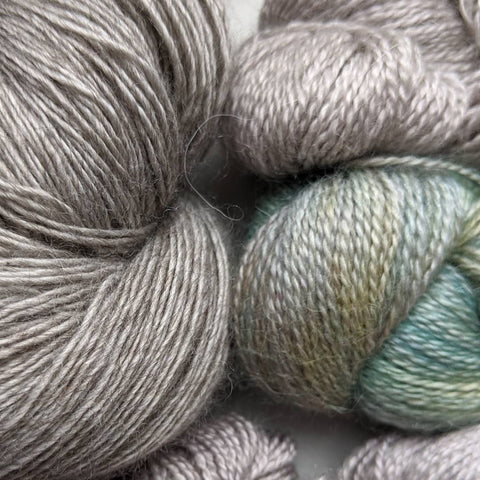 skeins of laceweight yarn