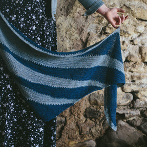 Double Denim Shawl