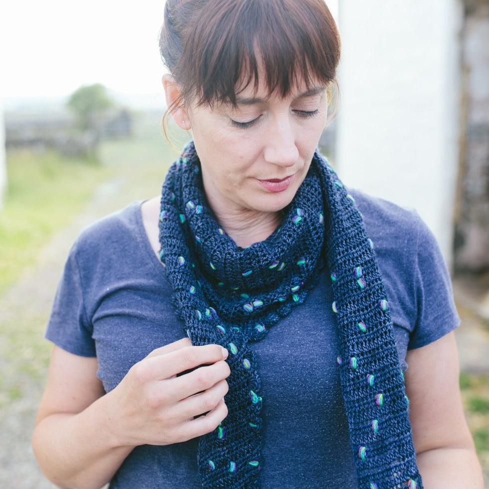 Stop, Drop and Pop Shawl - Simple Crochet Shawl Pattern