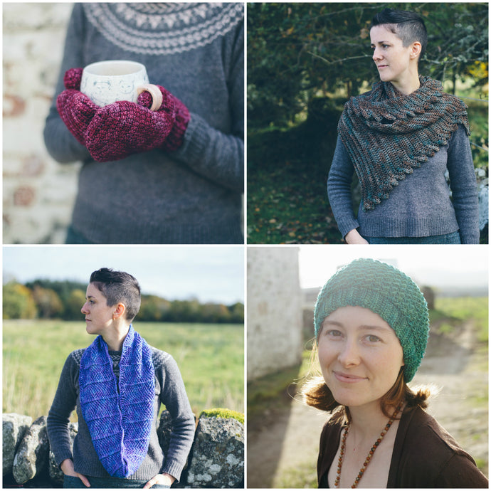 The Warmer Project-- Crochet Pattern Bundle - Four Easy Crochet Accessories Patterns