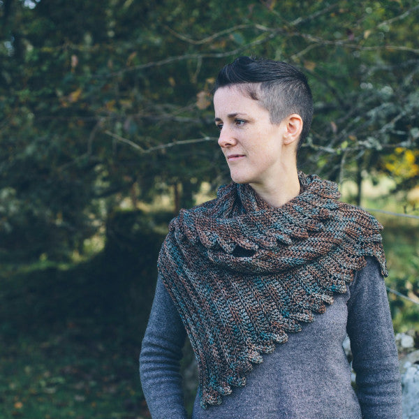 Fronds Shawl - Simple Crochet Shawl Pattern