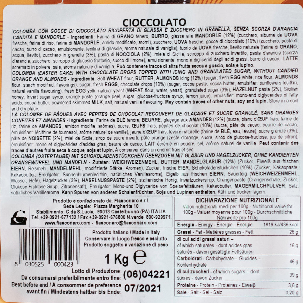 Chocolate Colomba, Fiasconaro, 1kg