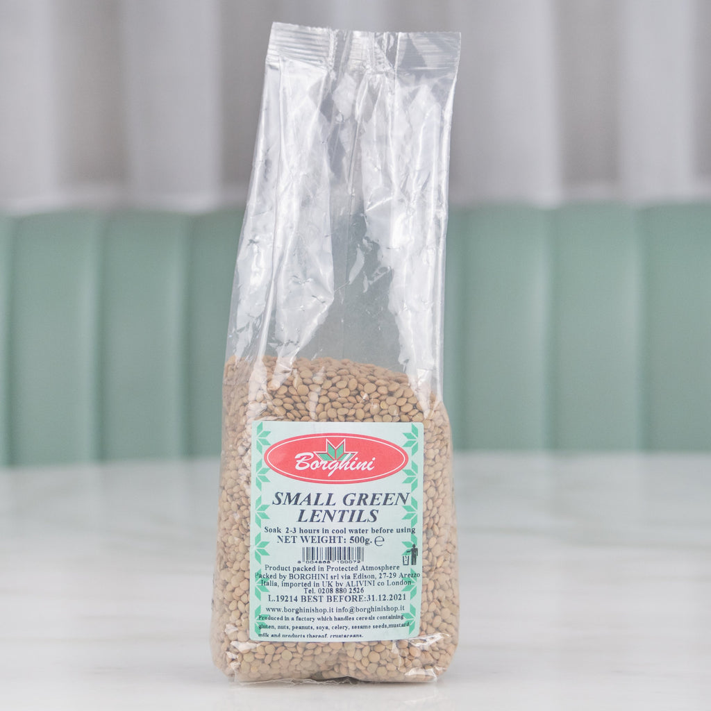 Small Green Lentils, Borghini, 500g