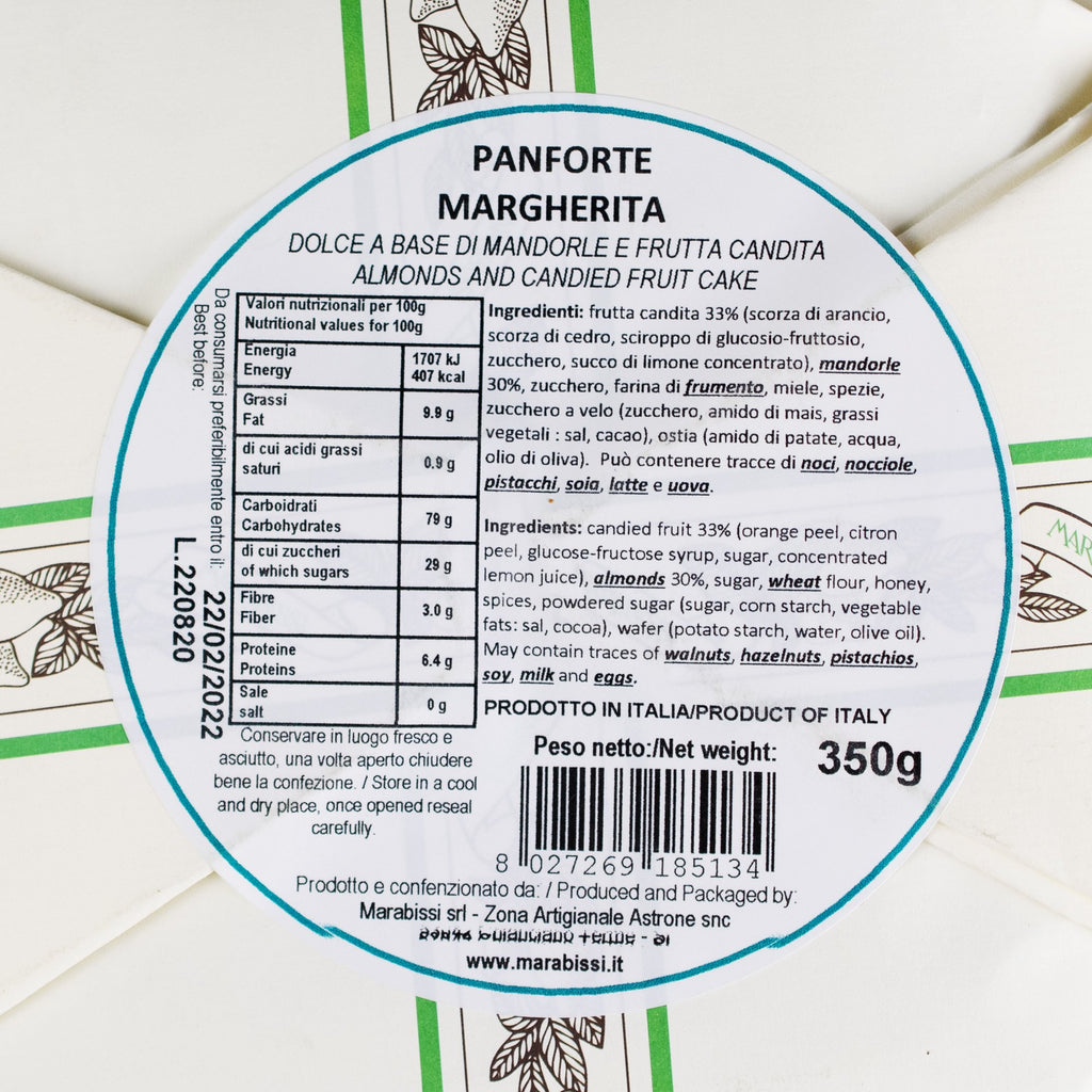"Traditional Panforte ""Margherita"", Marabissi, 100gr"