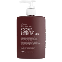 Coconut Sunscreen that smells good 400ml