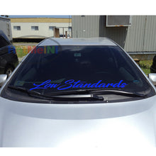 Low Standards windshield sticker 90*12.6cm Fornt windscreen classic car Stickers JDM Mugen decal Car Styling Decor Black/Sliver