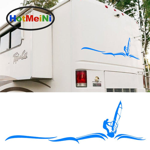 140CM*43.5CM Sailing Sports Camper Van Graphics Motorhome Graphics Kit Decals Vinyl Big Car Stickers for Rear or Bonnet