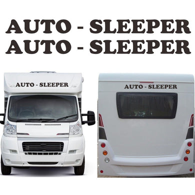 2 X Auto Sleeper Motorhome Caravan Travel Trailer Campervan Kit Decals Car Stickers