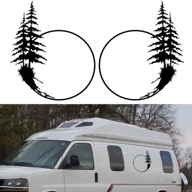 2x Palm Tree (one for each side) Graphic Car Stickers Camper Van RV Trailer Truck Motor Home Vinyl Graphics Kit Vinyl Decals