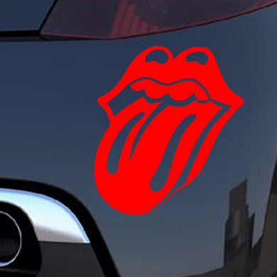 Car Sticker JDM Car styling Window Bumper Decals Vinyl Truck Fridge Waterproof Lips and Tongue Rolling Stones 15.3*12.3cm