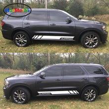 Car Styling 2x Side Door Stripes Decal Vinyl Kit Car Sticker Car Styling for Dodge Durango 2010-2017 RT GT Sport Light