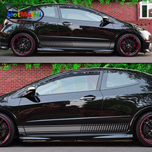 Car Styling 2x Decal Car Sticker Graphic Stripe Kit for HONDA Civic Type R FN2 Spoiler Carbon Lamp Accessories Decor