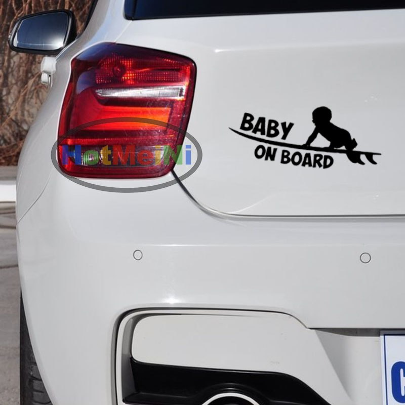 White BABY ON BOARD For Auto Car//Window Vinyl Decal Sticker Decals Decor HOT