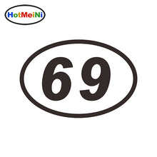 15*10 CM 69 SIXTY-NINE NUMBER OVAL JDM Reflective Classic Car Sticker Bumper Vinyl Decals Motocross Car Styling Decor