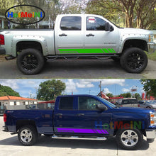 Car Styling 2x Decals Car Stickers Side Stripes Kit for Chevrolet Silverado Door Side Sport Light 2017 2016 2015 2014