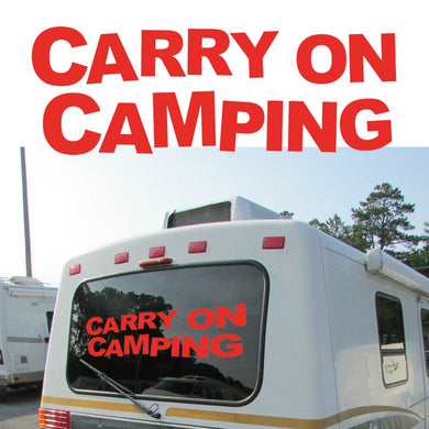 Carry On Camping Graphic Camper Van RV Trailer Motor Home Vinyl Graphics Kit Decals Car Stickers