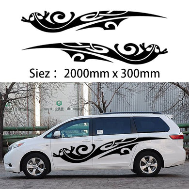 HotMeiNi 2x 2m Caravan Motorhome Camper Van Vinyl Graphics Car Stickers and Decals Vito Transit one for each side