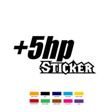 20cm x 10cm +5hp Stickers Horsepower Adhesive Car Sticker For Truck Window Door Vinyl Decal