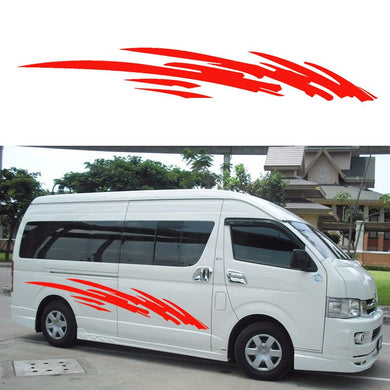 2x 2m Caravan Motorhome Camper Van Stripe Sticker Graphics Car Stickers Vinyl Decals Vito Transit SUV (one for each side)