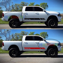 2x Side Stripe Decal Graphic Body Kit Car Sticker for Dodge Ram Hemi Grille Tail Light Cover Car Body Accessories Black/Sliver