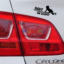 Car Sticker 18.8 CM*7.6 CM Baby On Board car window car body cartoon Black/Silver etc Vinyl Decals decoration