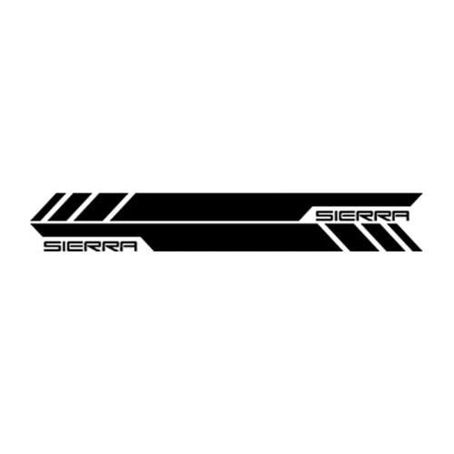 Car Styling 2x Decal Car Sticker Side Stripe Kit for GMC Sierra Headlight LED 2014-2017 Grill Door Cover Accessories
