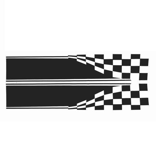 2x Checkered Flag Auto Graphic Decal Vinyl Car Truck Body Racing Stripe Sticker 11