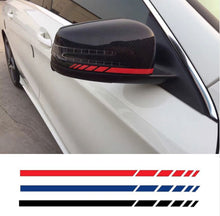 2sets4pcs Car Styling Auto SUV Vinyl Graphic Car Sticker Rearview Mirror Side Decal Stripe DIY Car Body Decals 20*0.7cm