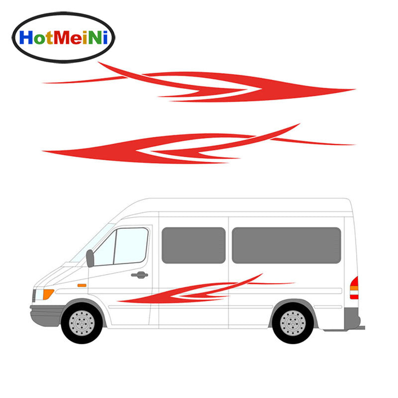 Car Sticker 2x Stripes Decal Truck Vehicle Motorhome Caravan Body Accessories Travel Trailer Camper Van 200CM*26CM