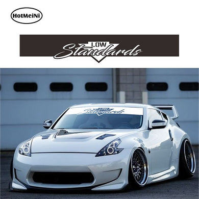 145*25cm Low Standards Banner Windshield Car Stickers Decal rauh welt style 2019 car JDM