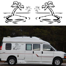 2x Palm Tree Graphics (one for each side) Camper Van Graphics Motor Home Vinyl Graphics Kit Decals Boat Van Window Car Stickers