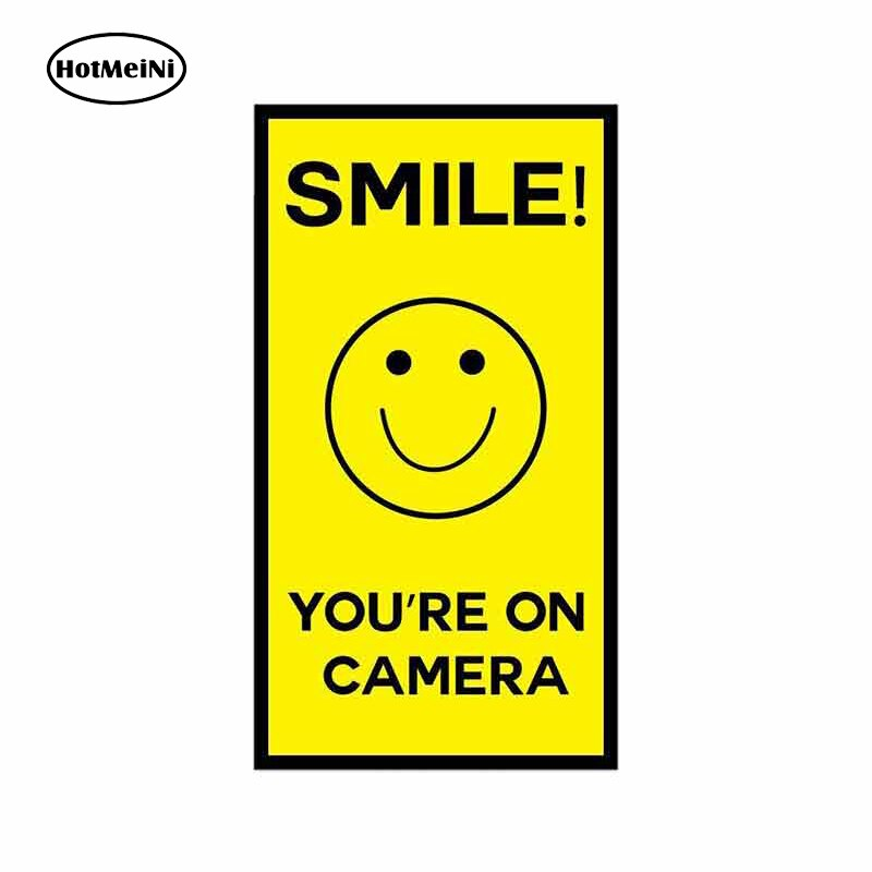13cm x 7.1cm For Smile Youre On Camera Fine Decal Vinyl Car Sticker Car Graphic Decal Waterproof Suitable For VAN RV