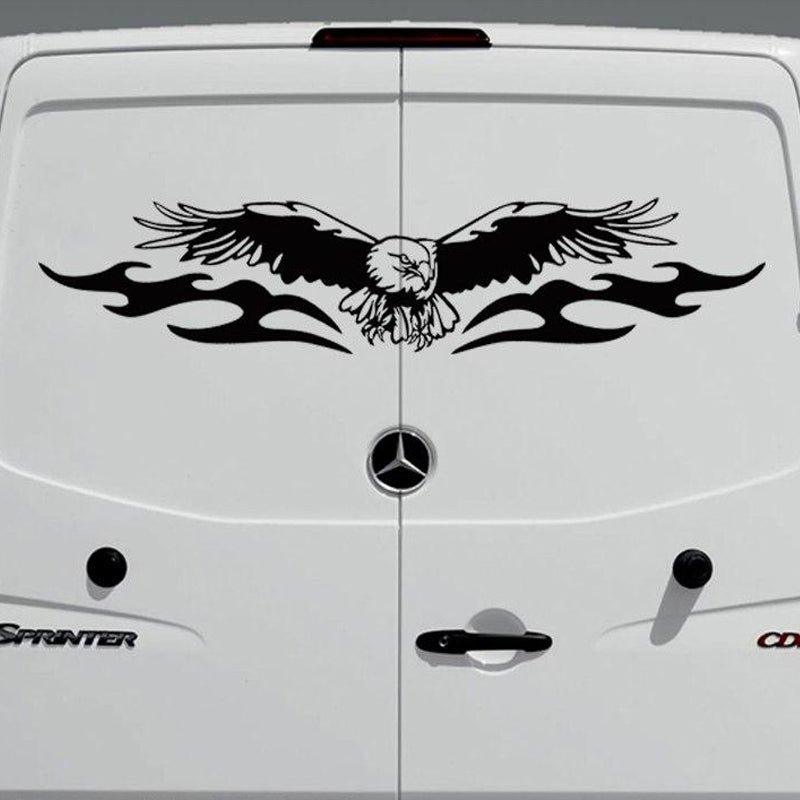 American Eagle Full Wing Graphics Camper Van Boat RV Motor Home Truck Window Vinyl Graphics Kit Decals Car Stickers