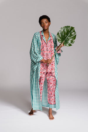 Load image into Gallery viewer, GREEN ZAMBEZI KIMONO