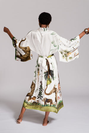 Load image into Gallery viewer, WILD KINGDOM KIMONO