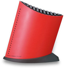 GKB-52/CR 10-Slot Ship Shaped Knife Block, Red
