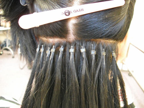 Best hair extensions for every type of hair in this application the natural hair is divided into about 14 to 12 inch sections a section of extension hair is then added to that section and both are pmusecretfo Gallery