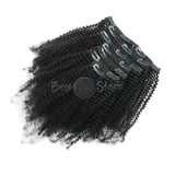 4AC Afro Kinky Coily Clip In Hair Extensions