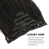 Afro Curly Clip In Hair Extensions