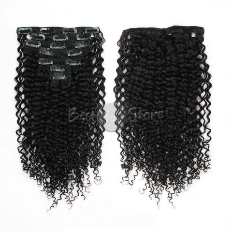 Jerry Curl Clip In Hair Extensions