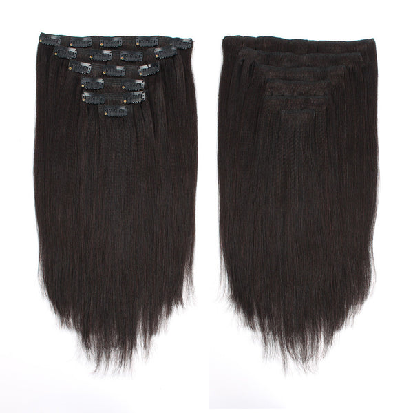 Yaki Straight Clip In Hair Extensions