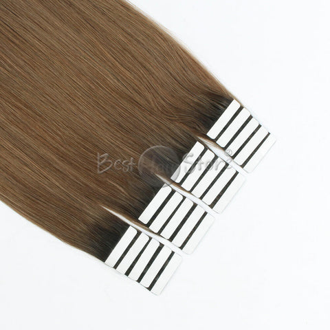 Rooted #2/6 Tape In Hair Extensions