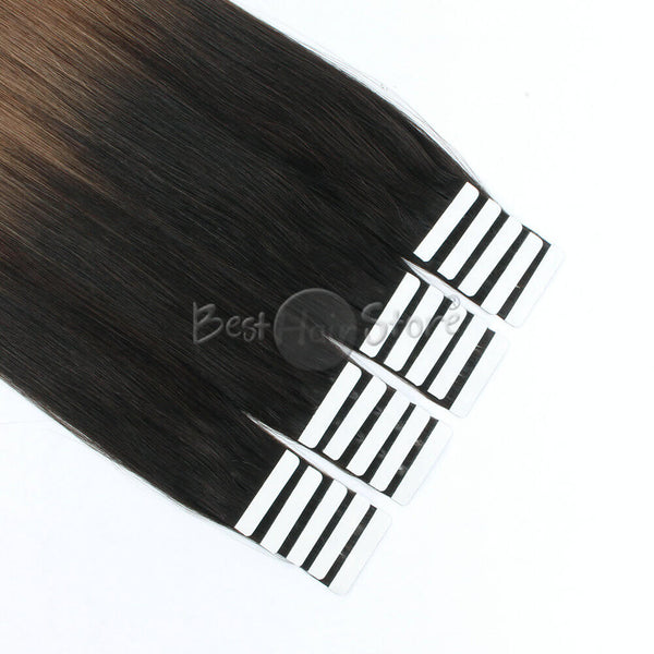 Ombre #2/6 Tape In Hair Extensions