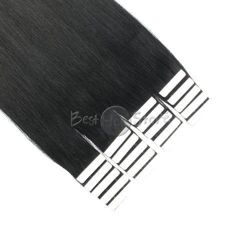 Jet Black #1 Tape In Hair Extensions