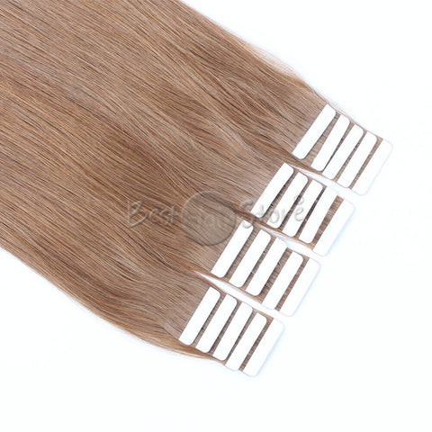Medium Golden Brown  #10 Tape In Hair Extensions