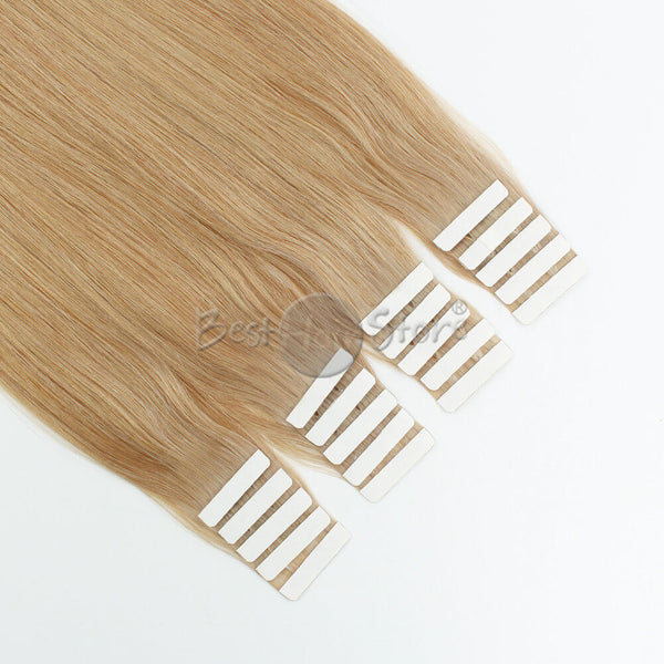 Light Golden Brown  12# Tape In Hair Extensions