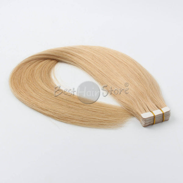 Tape In Hair Extension 100% Human Virgin Hair Silky Straight Color 16# 20 Pieces