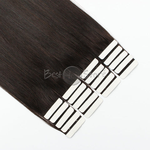 Dark Brown #2 Tape In Hair Extensions