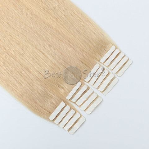 Light Blonde #24 Tape In Hair Extensions