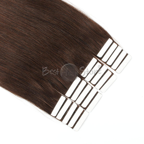 Medium Dark Brown #3 Tape In Hair Extensions
